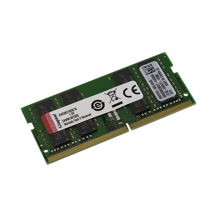 Ram Laptop Kingston 16GB DDR4 2666MHz KVR26S19S8/16