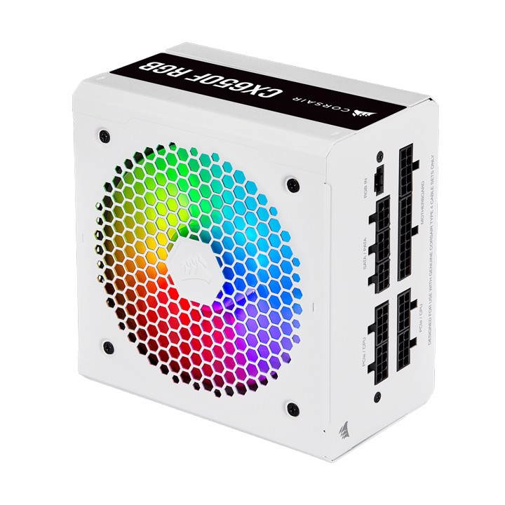 Nguồn Corsair CX650F RGB White 80 Plus Bronze - Full Modul (CP-9020226-NA)