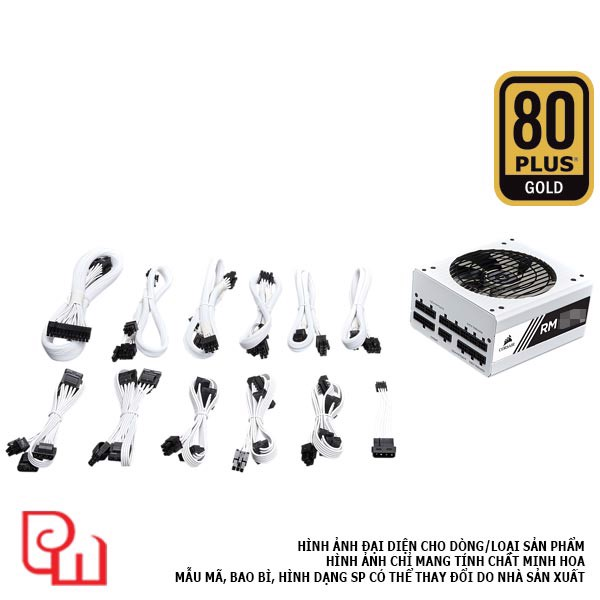 Nguồn Corsair RM850x White - 80 Plus Gold - Full Modul