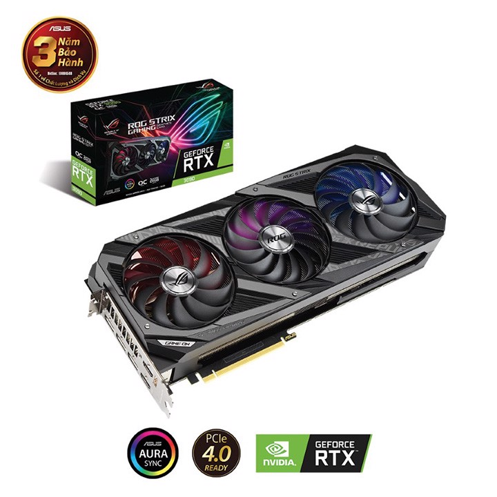 Card màn hình Asus ROG Strix GeForce RTX 3090 OC Edition 24GB GDDR6X (ROG-STRIX-RTX3090-O24G-GAMING)