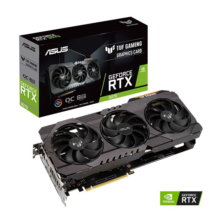 Card màn hình Asus TUF Gaming GeForce RTX 3070 OC Edition 8GB GDDR6 (TUF-RTX3070-O8G-GAMING)