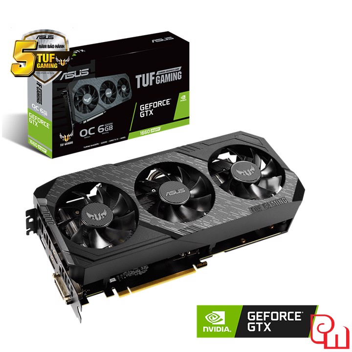 Card màn hình ASUS TUF Gaming X3 GeForce GTX 1660 SUPER OC edition 6GB GDDR6 (TUF 3-GTX1660S-O6G-GAMING)