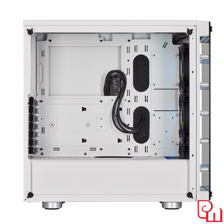 Vỏ Case Corsair Crystal 465X White RGB Tempered Glass