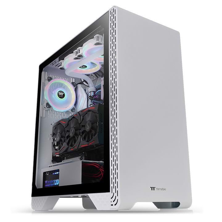 Vỏ Case Thermaltake S300 Tempered Glass Snow Edition Mid-Tower Chassis (CA-1P5-00M6WN-00)