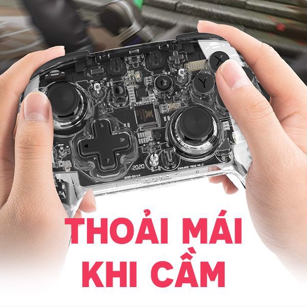 Tay cầm Pro Controller trong suốt IINE (PMW) cho Nintendo Switch