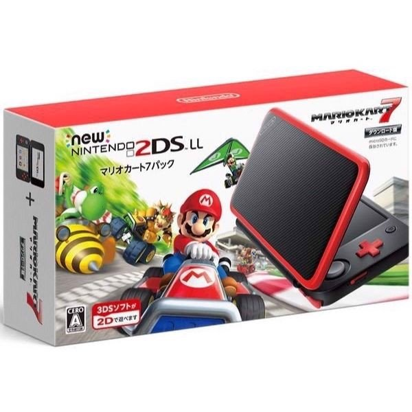 New Nintendo 2DS LL - Black + Red (Miễn phí hack + Chép game)
