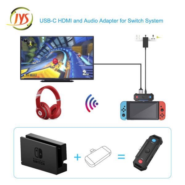 JYS 2 in 1 TV converter and audio adapter cho Nintendo Switch
