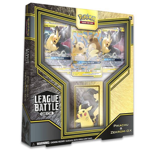 PB116 - Thẻ Bài Pokemon Pikachu & Zekrom-GX League Battle Deck
