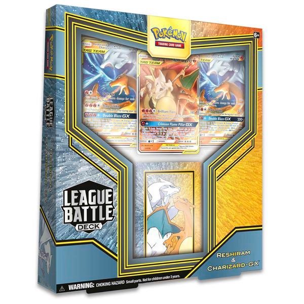 PB117 - Thẻ Bài Pokemon Reshiram & Charizard-GX League Battle Deck