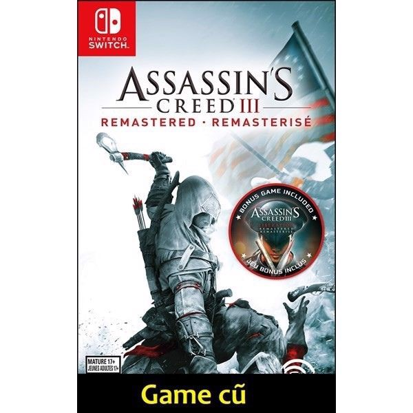 Assassin's Creed III Remastered cho Nintendo Switch [Second-Hand]