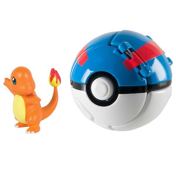 Throw 'n' Pop Poke Ball - Charmander & Great Ball (Pokemon)