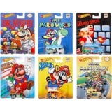HOT WHEELS POP CULTURE: SUPER MARIO BROS. (COMPLETE SET OF 6)