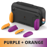 Combo Skull & Co túi đựng Nintendo Switch kèm Case Grip cao cấp Purple Orange