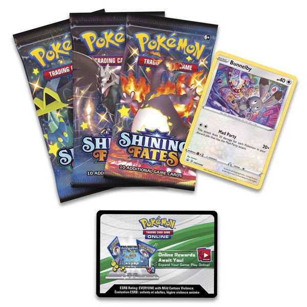 PB137 - Pokemon TCG Shining Fates Mad Party Pin Collection - Bunnelby