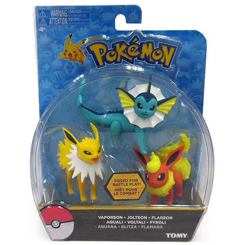 POKEMON ACTION FIGURE SET FLAREON, JOLTEON, VAPOREON