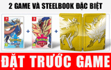 Game Pokemon Sword & Shield kèm Steel Book cho Nintendo Switch siêu hay