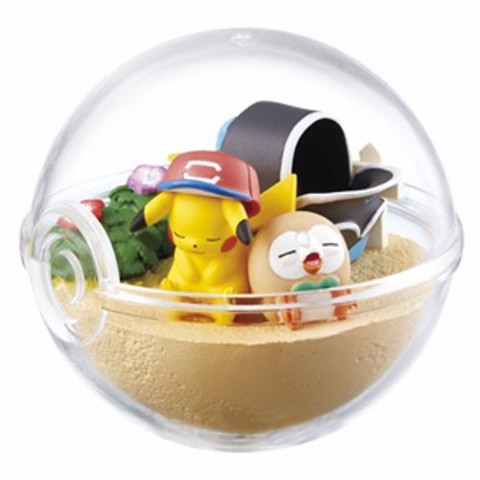 Pokemon Terrarium Collection EX Alola - Ash Pikachu & Rowlet