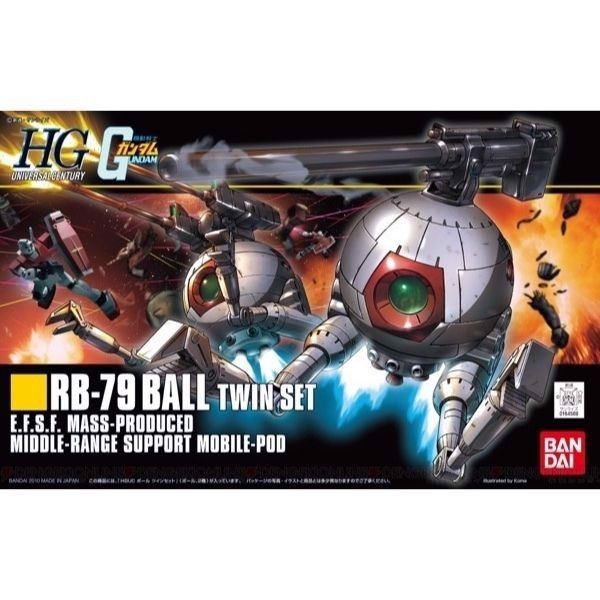 RB-79 BALL TWIN SET (HGUC - 1/144)