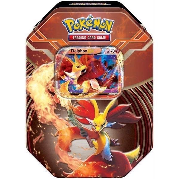 PT05 - DELPHOX-EX KALOS POWER TIN (POKÉMON TRADING CARD GAME)