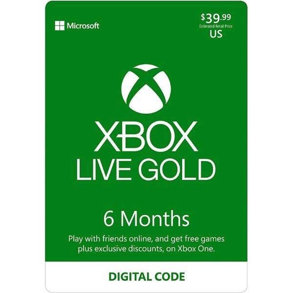 Xbox Live Gold 6 Month Membership Digital Code