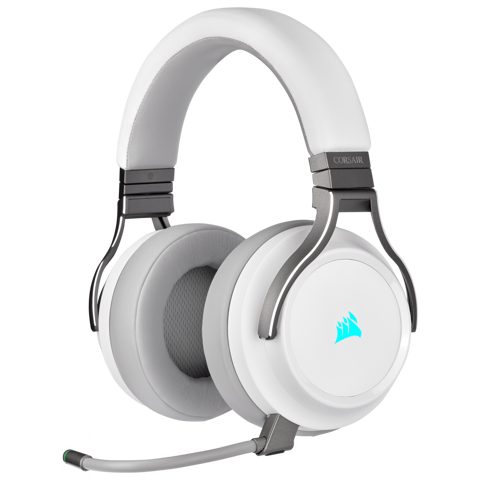 Tai nghe Corsair Virtuoso RGB White  - 7.1 Surround - Slipstream Wireless