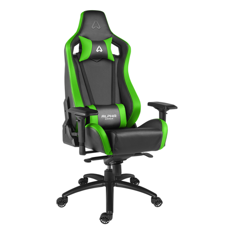 Ghế Alpha Gamer Polaris Black/Green - Racing Series