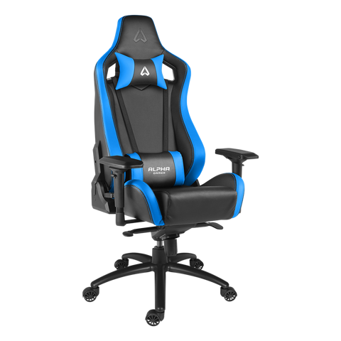 Ghế Alpha Gamer Polaris Black/Blue - Racing Series