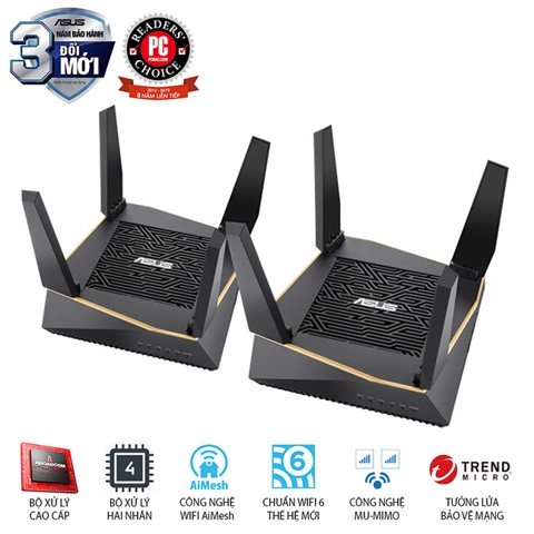 Router ASUS RT-AX92U 2 Pack (AiMesh Router)
