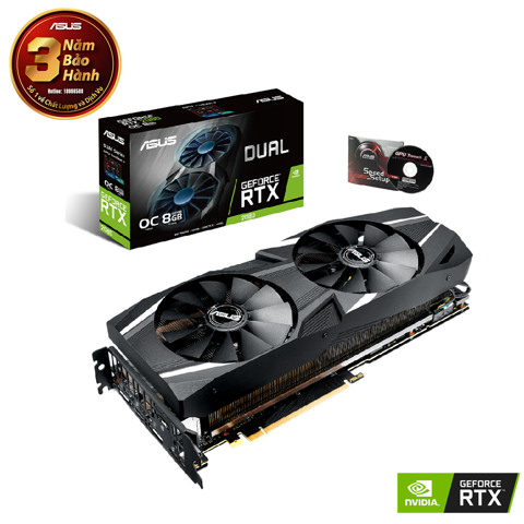 Card màn hình ASUS Dual GeForce® RTX 2080 O8G OC edition 8GB