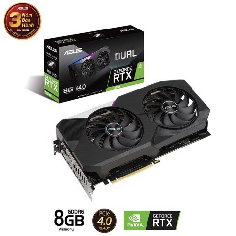 Card Màn Hình ASUS DUAL Gaming GeForce RTX™ 3070 8G GAMING