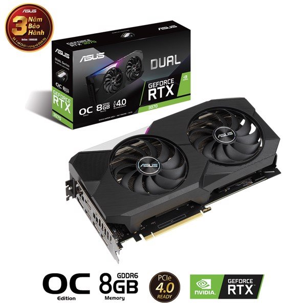 Card Màn Hình ASUS DUAL Gaming GeForce RTX™ 3070 O8G GAMING
