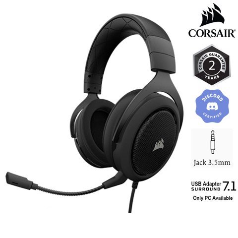 Tai nghe Corsair HS60 PRO Surround 7.1 Carbon (CA-9011213-AP)