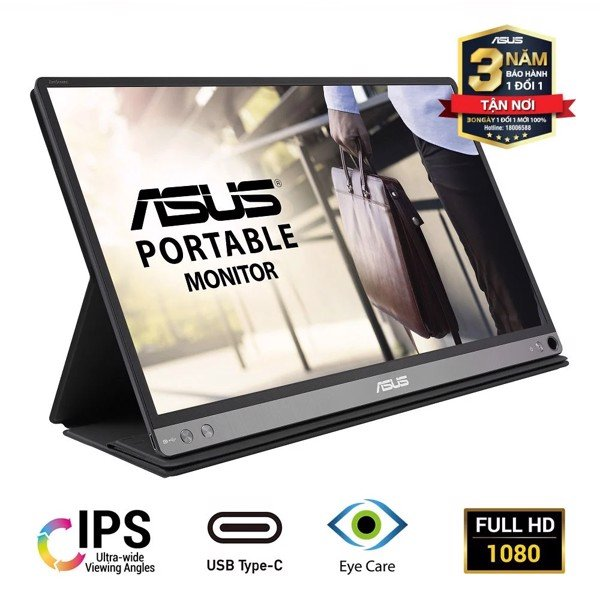 Màn Hình ASUS ZenScreen MB16ACR Full HD 5ms 60Hz IPS USB Type-C