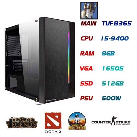 PC GAMING GALIO I5-9400 GTX1650S