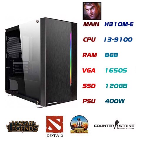 PC GAMING JAYCE I3-9100 GTX1650S