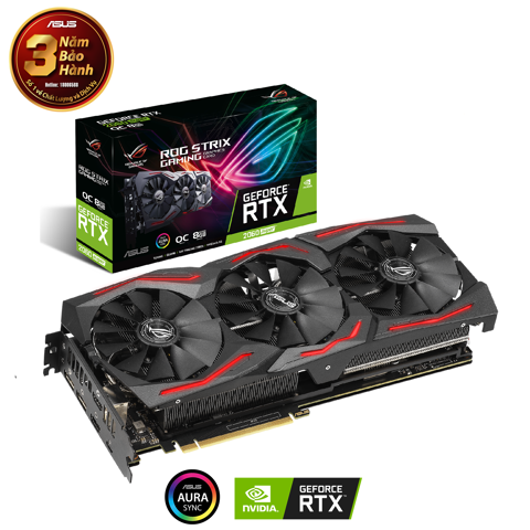 Card màn hình  ASUS ROG Strix GeForce® RTX 2060 SUPER O8G EVO 8GB GDDR6
