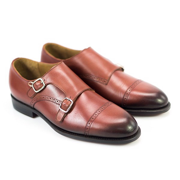 Double Monk Classic Captoe brogue