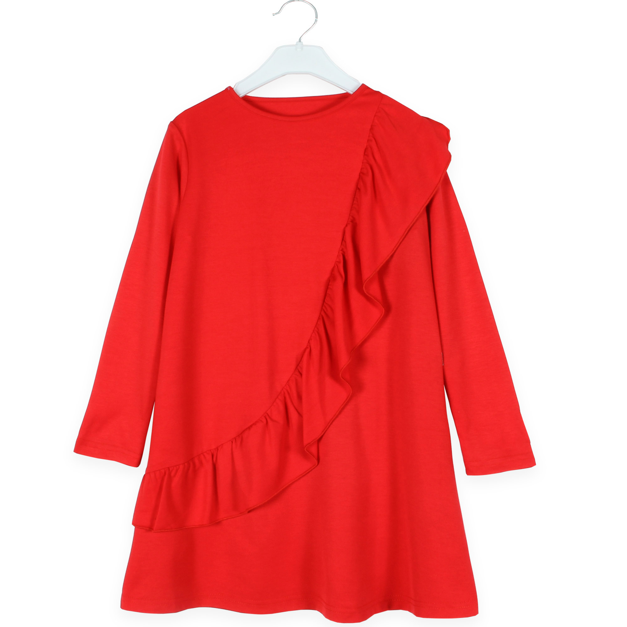 Váy bé gái đỏ bèo ngực