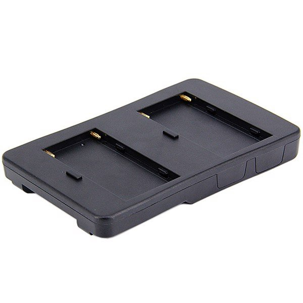 Tấm F2-BP plate two x F970 batteries convert to V mount battery plate