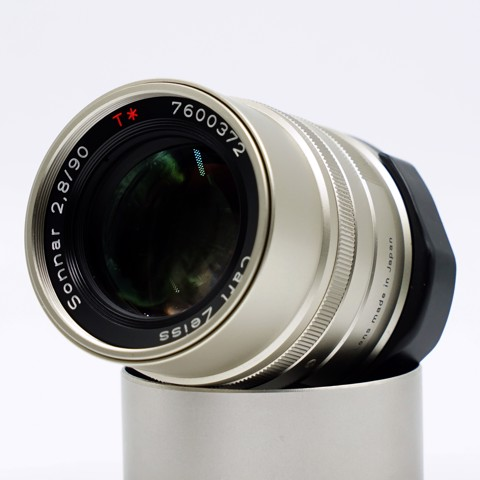 Lens Contax 90mm f2.8 Carl Zeiss Sonnar T * for G1/2 ( 98% )