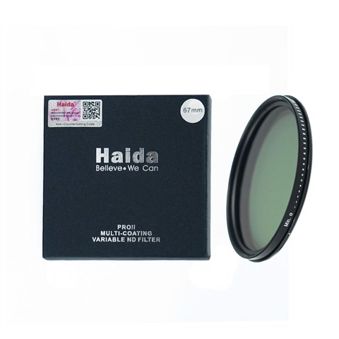 Filter ND 67mm |  Haida PRO II Variable ND Filter 1 - 9 Stop ND Filter