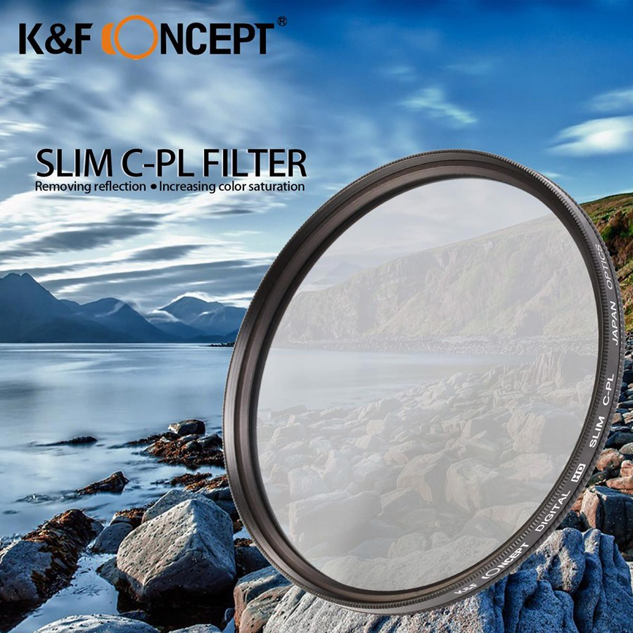 Filter CPL 62mm | K&F Concept HD Circular Polarizing Slim