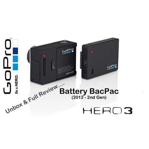 Pin BackPack for GoPro Hero 3 ( Cũ )