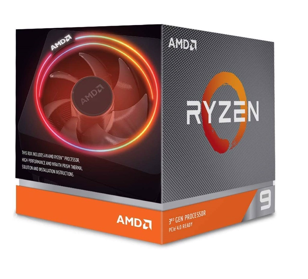 Bộ vi xử lý AMD Ryzen 9 3900X, with Wraith Prism cooler/ 3.8 GHz (4.6 GHz with boost) / 70MB / 12 cores 24 threads /105W / AM4