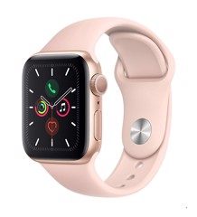 Apple Watch Series 5 GPS Gold Aluminum Case With Pink Sand Sport Band