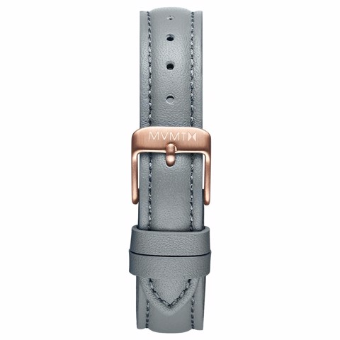 Dây Đeo Đồng Hồ MVMT 16mm Cool Grey Leather - Nova Series
