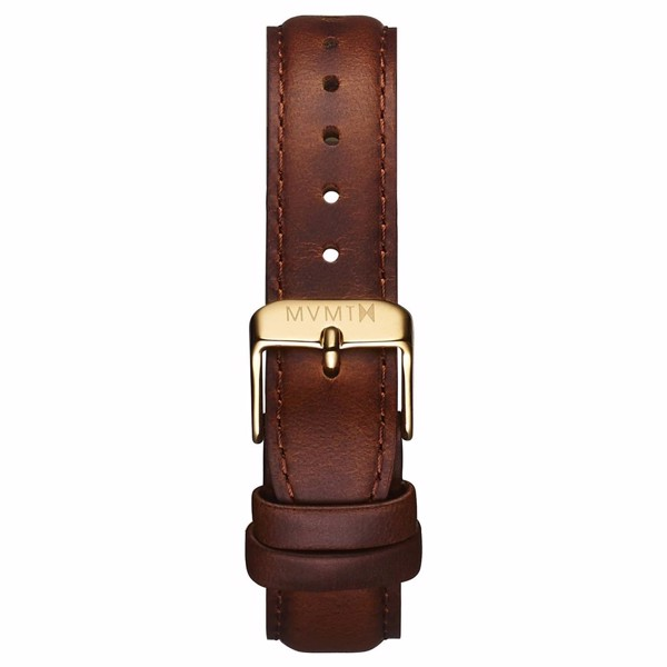 Dây Đeo Đồng Hồ MVMT 18mm Brown Leather - Signature Series