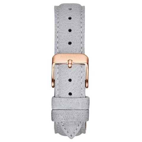 Dây Đeo Đồng Hồ MVMT 18mm Light Grey Leather - Boulevard Series