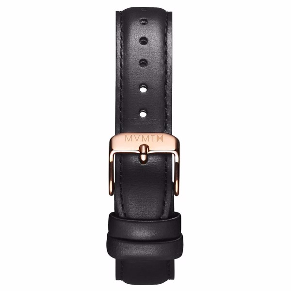 Dây Đeo Đồng Hồ MVMT 18mm Black Leather - Signature Series
