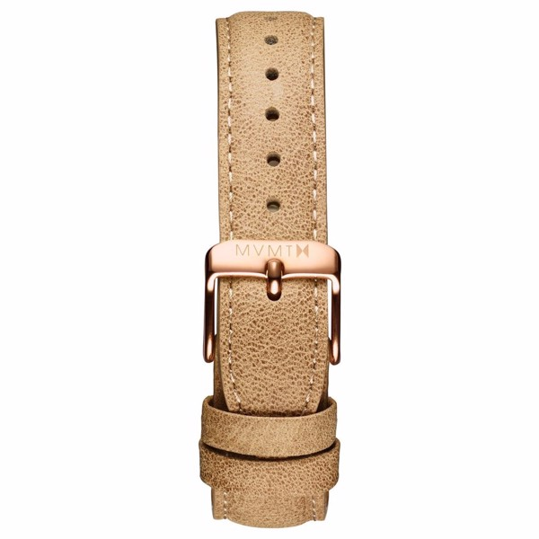 Dây Đeo Đồng Hồ MVMT 18mm Beige Leather - Signature Series